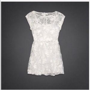 🤍 Hollister Co Sheer Crochet Mesh Lace Mini Dress